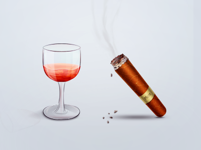 Cigar and Red Wine  graphic design icon iphone ios ipad mobile design app android app designers cigar wine