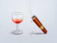 Cigar and Red Wine