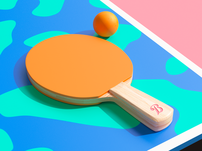Paddle 3d sport game ball table tennis pingpong
