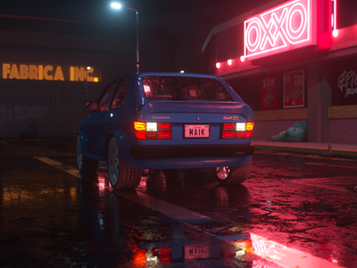 Caribe Night oxxo reflections substance octane c4d cgi