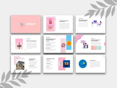 Lekdut Prsentation powerpoint design colorful pitchdeck corporate ppt template illustration powerpoint presentation business creative company