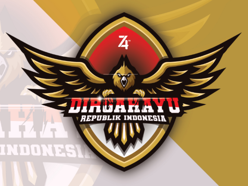 74th Indonesian Independence Day illustration animal flag bird sport logo mascot character esport logo independence day indonesian
