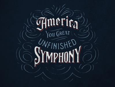 America handdrawntype vintage handlettering lettering