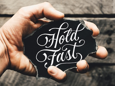 ...test everything; hold fast what is good... letteredandtorn script vintage typography handlettering lettering