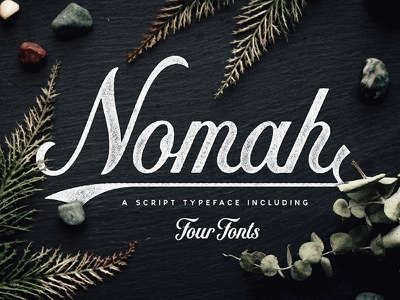 Nomah   Script Typeface + Bonus grunge script vintage typography handlettering lettering typeface font
