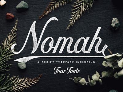 Nomah   Script Typeface + Bonus