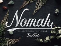Nomah | Script Typeface + Bonus