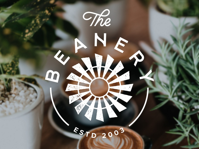 The Beanery typography grunge logo handlettering lettering