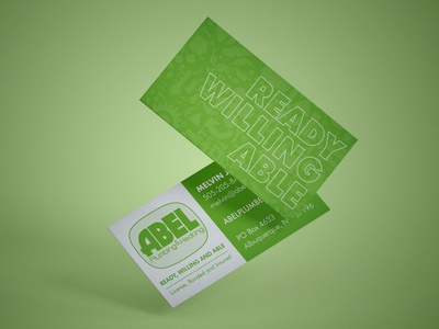 Abel Plumbing & Heating Business Card