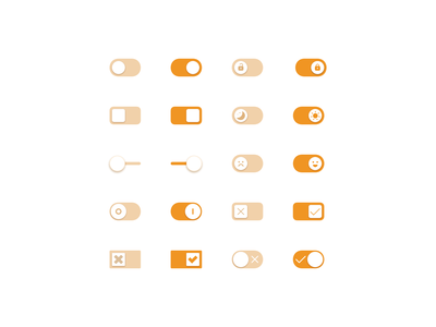 Toggles element toggle interface ui switch webdesign