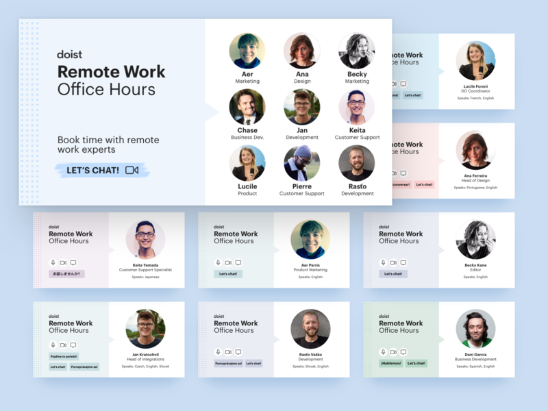 Doist Remote Work Office hours
