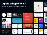 Apple Widgets UI Kit for Figma macos ipados widgets mockup file community figma ui kit ios 14 apple todoist iphone ui ios