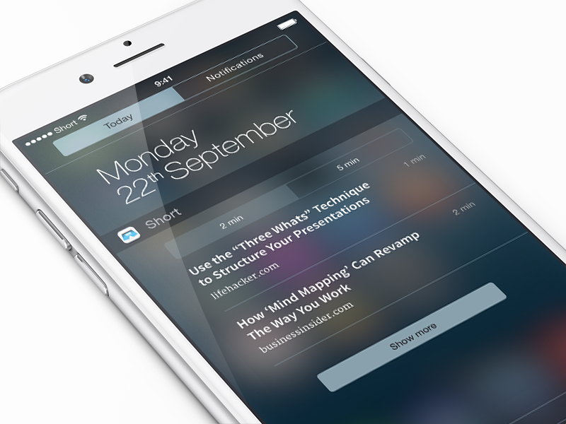 Short Widget by Alex Muench for Short on Dribbble