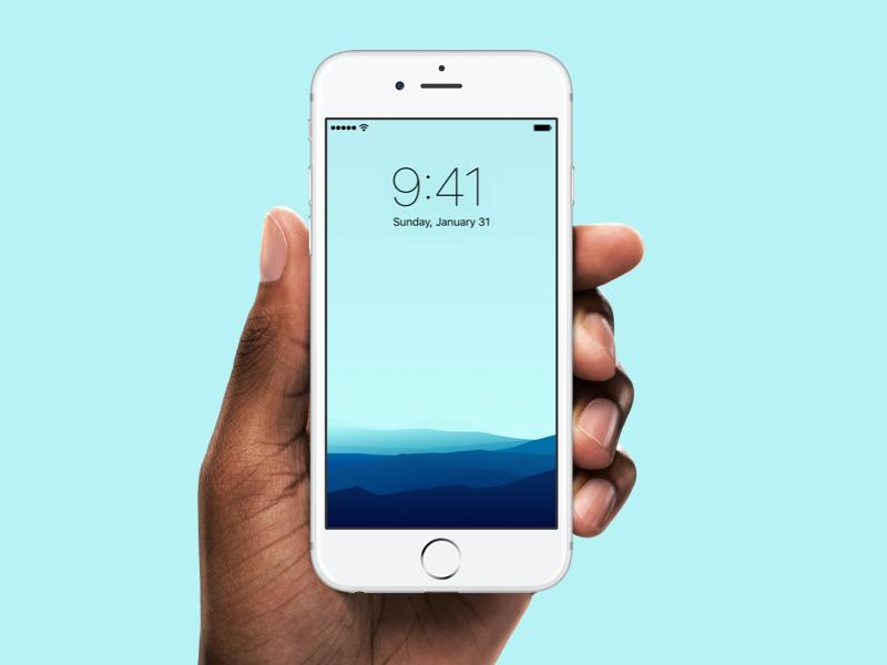 Minimalistic Wallpaper download vector landscape illustration iphone wallpaper