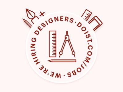 We're hiring designers working remote productivity todoist hiring