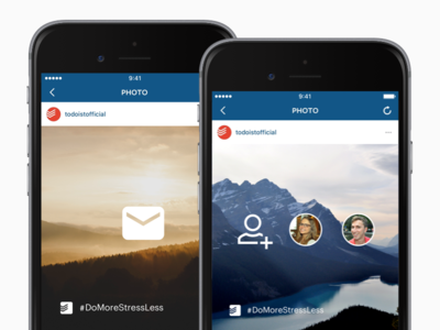 #DoMoreStressLess – Social Media Images gmail outlook iphone app list todo features instagram campaign social media todoist