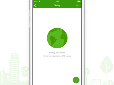 Happy Earth Day ❤️🌍 illustration iphone app to do empty screen concept list task todoist day earth