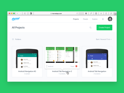 Hover popups for projects: Marvel Design concept web design prototyping ui ios android product ux marvel marvelapp medium blog post