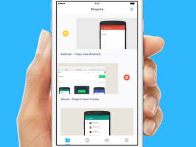 Make sharing a prototype faster on mobile: Marvel Design concept