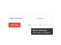 Tooltips quick comment