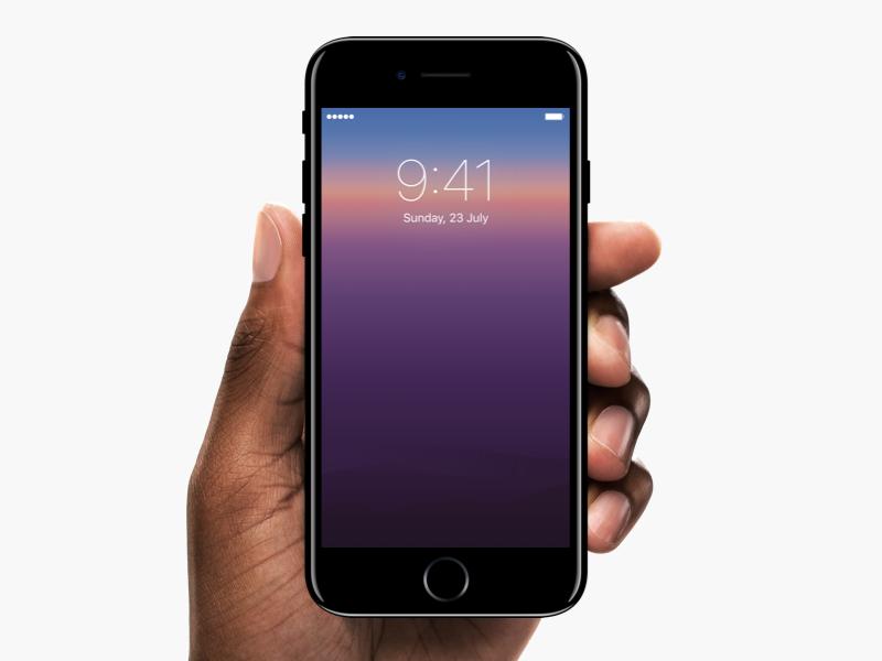 Iphone sunrise