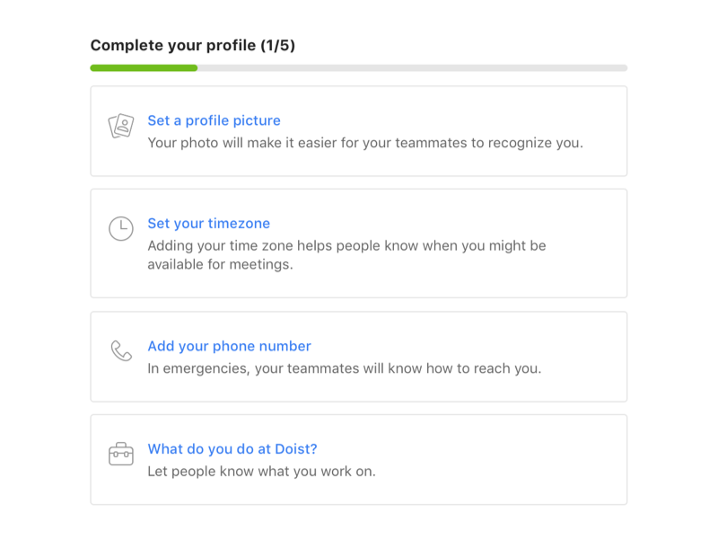 Complete Your Profile – Twist Onboarding mobile android mac icon ui onboarding app communication team