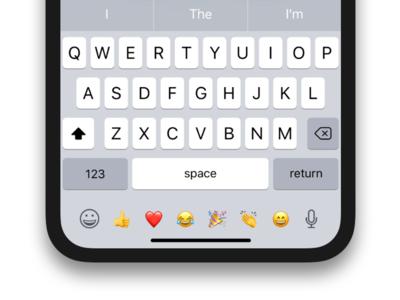 Emoji shortcuts iPhone X keyboard