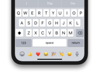 Emoji shortcuts iPhone X keyboard