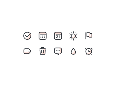Todoist icon style exploration iconography exploration test todoist
