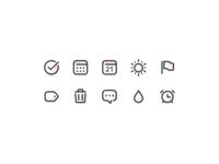 Todoist icon style exploration