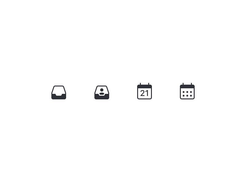 Todoist menu icons
