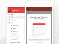 Todoist Favorites In App Education dialog