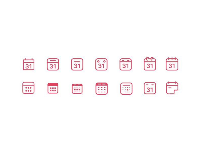 Diverse Calendar Icons calendar icon