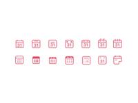 Diverse Calendar Icons