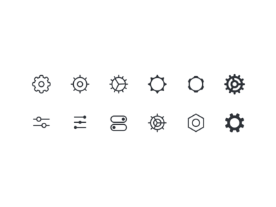 Diverse Settings Icons ⚙️