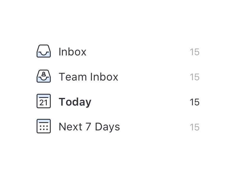 Todo Menu icons organization icons list app todo