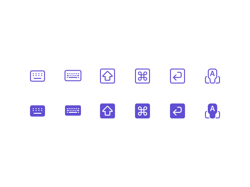 Diverse Keyboard Shortcut Icons ⌨️ set icon shortcut keyboard