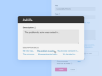 Dribbble descriptions