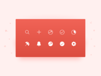 Top bar icons