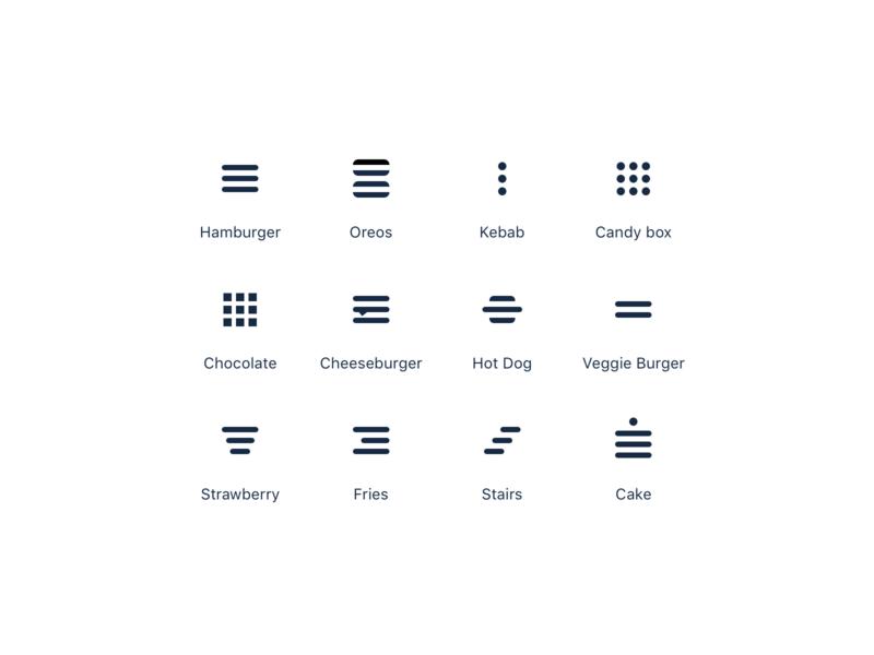 Menu Icons 🍔 icon ui