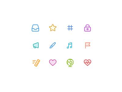 Category icons exploration exploration twist categories icon vector app ui