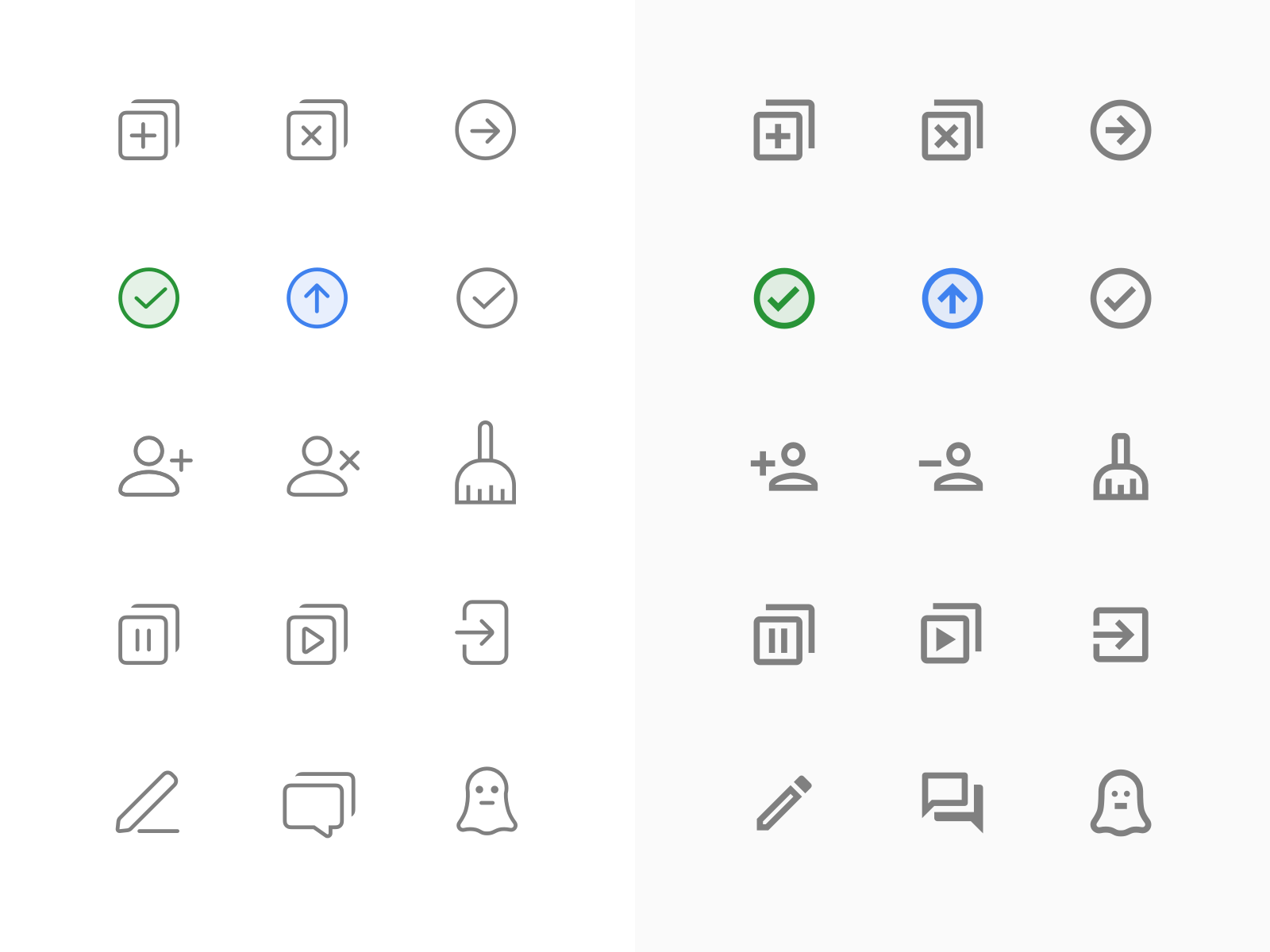 System message icons