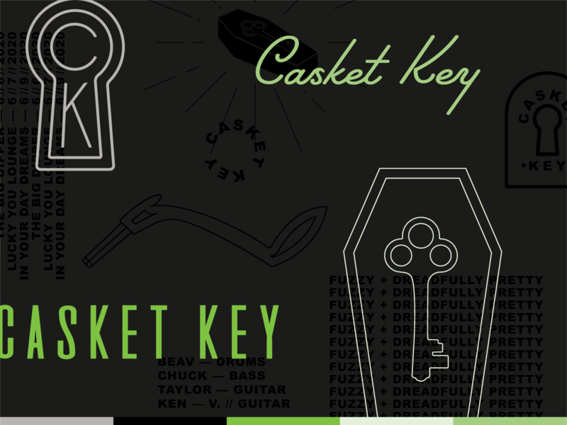 Casket Key — Brand Pieces spokane identity coffin garage brand band key casket