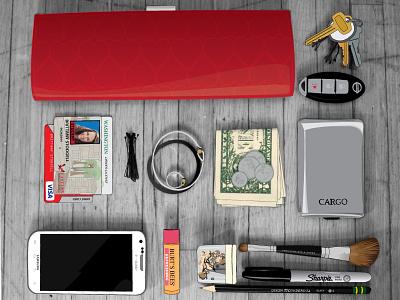 myEssentials_final vector illustration thingsorganizedneatly essentials things organized neatly