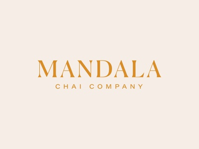 mandala chai RIP — main mark logo brand rebrand elevated pnw spokane serif all caps logotype branding chai mandala