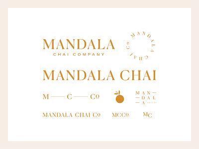 mandala chai RIP — full family serif all caps elevated spokane mandala chai logo identity brand logomarks brand system branding chai mandala