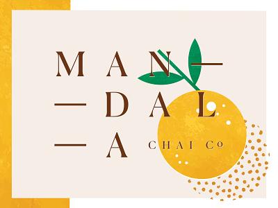 mandala chai RIP — texture logo brand identity spokane pattern logotype orange texture branding chai mandala
