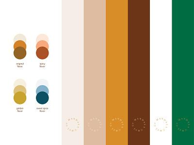 mandala chai RIP — color palette spokane flavors palette color identity brand branding chai mandala