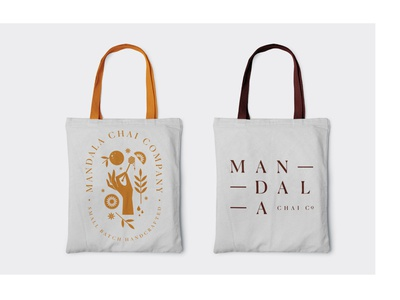 mandala chai RIP — tote concepts concept badge design badge illustration flat identity brand spokane tote bag tote concepts branding chai mandala