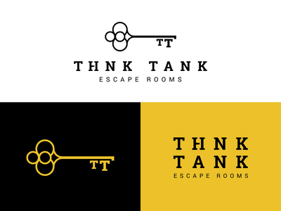 Think Tank Brand Concept — RIP logo skeleton key key spokane tank think room escape branding